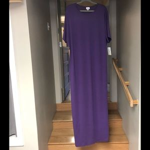 NWT lularoe Maria solid purple maxi dress 3x